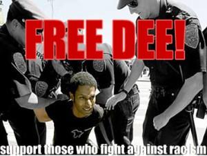 dee-allen-arrested-city-hall-protesting-minute-men-demo-073008-300x226, Free Dee Allen, Local News & Views