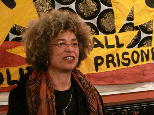 Angela Davis came to KPFA recently to record an interview with Block Report Radio. – Photo: Adalia