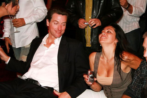 "San Francisco Mayor Gavin Newsom, an admitted alcoholic who is rumored to have indulged in other recreational drugs, is replacing basic, essential City services with a $2.7 million poverty court to prosecute the poor, and especially the houseless, for ""quality of life"" crimes. – Photo: SFWeekly.com"