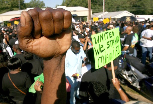 On Sept. 20, 2007, exactly a week before Mychal was freed, tens of thousands of Black people from all over the country had marched for justice in Jena. – Photo: Reuters
