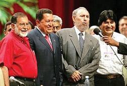shafik-handal-fmln-04-pres-cand-hugo-chavez-fidel-castro-evo-morales-2005, Finally, in El Salvador, World News & Views