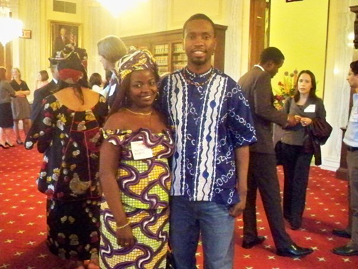 """""""I appreciate her, her strength, her courage - she is a true champion,"""" said Kambale Musavuli (right) of Chouchou's testimony. Kambale is the spokesman and student coordinator for Friends of the Congo."""