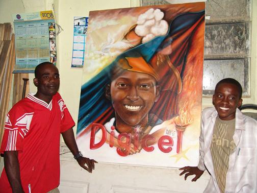 Rosemond-Jolissaint-rt-painter-of-portrait-of-Digicel-Haitis-American-Idol-victory-20073, A musical tribute to Fr. Jean-Juste by Rosemond Jolissaint, Radio & Audio