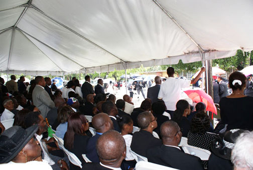 fr-gerard-jean-juste-funeral-overflow-tent-by-norluck-dorange, Mourners at Father Gerard Jean-Juste's funeral accuse Catholic church, Haitian leaders of complicity in his death, World News & Views