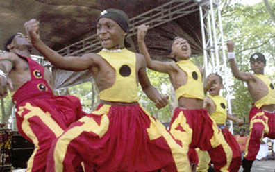 Odunde Festival dancers