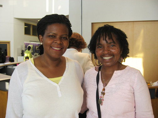 "Annette Gordon-Reed, author of the Pulitzer Prize-winning ""The Hemingses of Monticello: An American Family,"" with Bay View Arts Editor Wanda Sabir - Photo: Wanda Sabir"