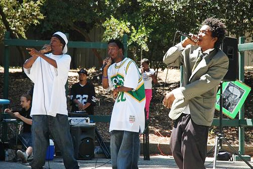 """Mass incarceration is a very personal issue for targeted Black youth like those who roused the crowd of over 250 in Mosswood Park for """"I Scream Against Prison Expansion."""" – Photo: Victor Chavez"""