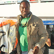 """Jamaican-British filmmaker Ishmahil Blagrove boards the Spirit of Humanity June 29, intending to take aid to Gaza. One of the Free Gaza 21, who were abducted by the Israeli Navy and held in Israel's Ramle Prison for a week, he told Sky News via a cell phone provided by British consular services, """"Africans, like Palestinians, are being persecuted by the Israeli government and the world needs to know."""" He says the Israeli prison population is 90 percent Black."""