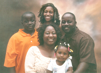 This 2007 photo shows, in the back row, from left, Jalil Muntaqim's grandson Selmar Jalil, granddaughter Shacari and son-in-law Selmar; in front are his daughter Antoinette holding great-granddaughter Aminah Jasmin.