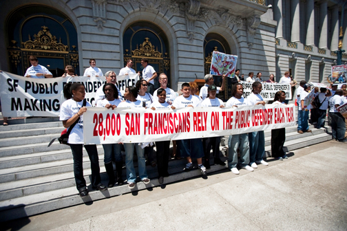 San Franciscans of all ages, colors and creeds have been rallying to support their Public Defender's Office, which protects their constitutional right to a strong defense.