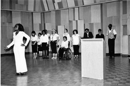 Taiwo Kujichagulia Seitu, shown here with her Berkeley City College Choir, will be honored by Friends of Negro Spirituals as a preserver of the heritage.