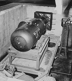 "The atom bomb ""Little Boy"" sailed from the Hunters Point Shipyard and on Aug. 6, 1945, was dropped on Hiroshima, killing 140,000 people by the end of that year. The USS Indianapolis, which carried the bomb across the Pacific, was sunk by a Japanese submarine on its return trip."