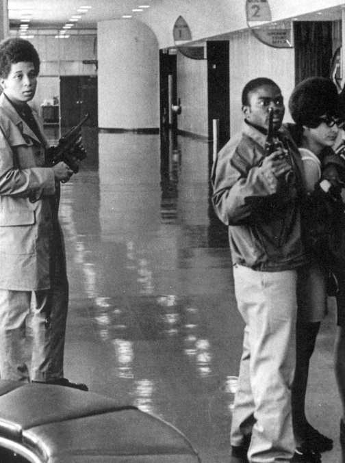 """On Aug. 7, 1907, George Jackson's brother Jonathan, only 17, invaded the Marin County Courthouse alone, planning ultimately to free the Soledad Brothers. """"You can take our pictures. We are the revolutionaries!"""" Jonathan shouted."""