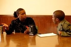 Minister of Information JR interviews Congresswoman Cynthia McKinney in April of 2007, one of many times the two have discussed the burning issues of the day.