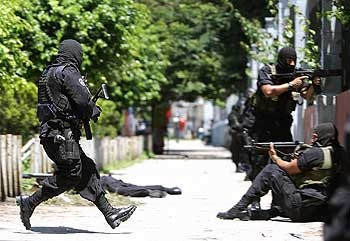 Last July 5, San Salvador riot police attacked high school students protesting increases in bus fares and energy and food costs.