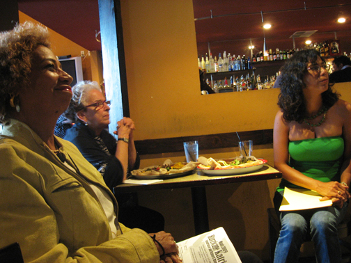 Kathryn-Takara-featured-poet-Kathy-Sloan-photographer-Karla-Brundage-co-host-083009-by-Wanda-web, Wanda's Picks for September, Culture Currents