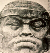 This Olmec king with Africoid facial features, rediscovered in 1858 at the Tres Zapotes archeological site in the Mexican state of Veracruz, is convincing evidence of the 3,000-year presence of Africans in Mexico but was omitted from the Oakland Museum of California exhibit.