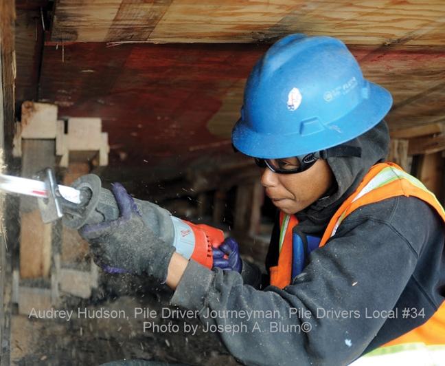 Audrey-Hudson-pile-driver-by-Joseph-A.-Blum-c-web1, Bridge builder Audrey Hudson, Local News & Views