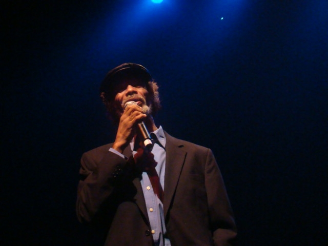 The legendary musician Gil Scott Heron did a little social commentary in between songs at his Frisco performance on Oct. 2 at the Regency Ballroom.