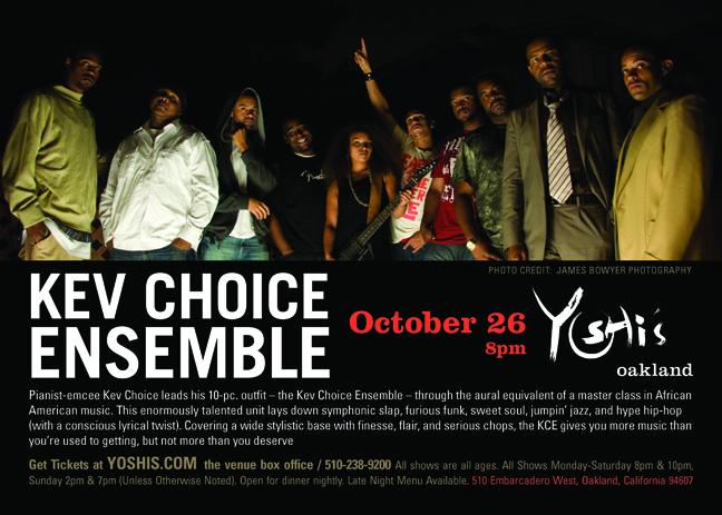 Kev-Choice-Ensemble-102609, Tickling the keys: an interview wit' pianist and rapper Kev Choice, Culture Currents