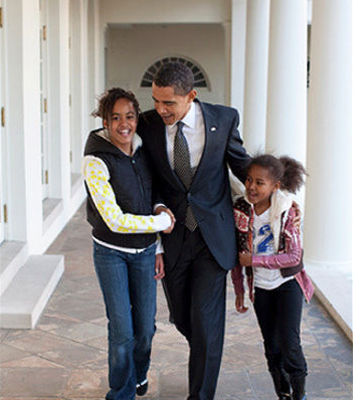 Malia-Barack-Sasha-Obama-1st-100-days1, Get off Obama's back ... second thoughts from Michael Moore, National News & Views