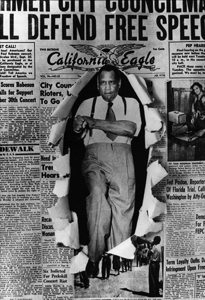 robeson - Son de los nuestros:  Paul Robeson Paul-Robeson-bursting-through-the-front-page-of-the-California-Eagle-web1