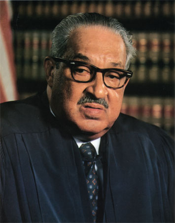 """Thurgood Marshall, the first African-American Supreme Court justice, wanted peremptory challenges banned. By using the, he said, """"Prosecutors are left free to discriminate against blacks in jury selection provided that they hold that discrimination to an 'acceptable' level."""""""