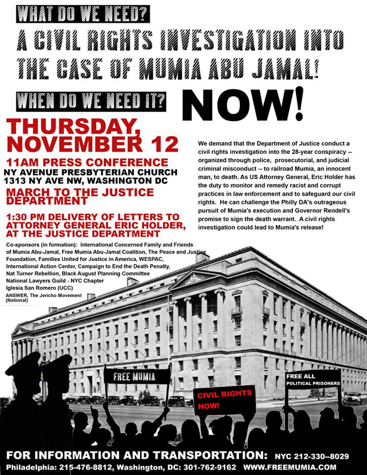 Mumia-march-1109, Fox finds a new Black boogeyman: Glen Beck's Mumia obsession, National News & Views