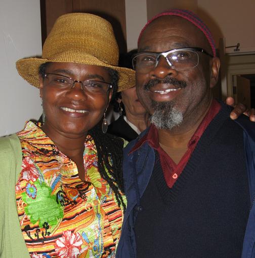 Kamau Seitu with Angela Wellman of the Oakland Public Conservatory of Music - Photo: Wanda Sabir