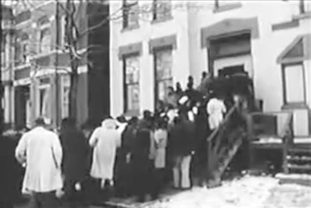"When the Panthers conducted ""people's tours"" of Chairman Fred Hampton's apartment after his assassination, thousands of followers lined up in the cold, and film crews and reporters were brought in."
