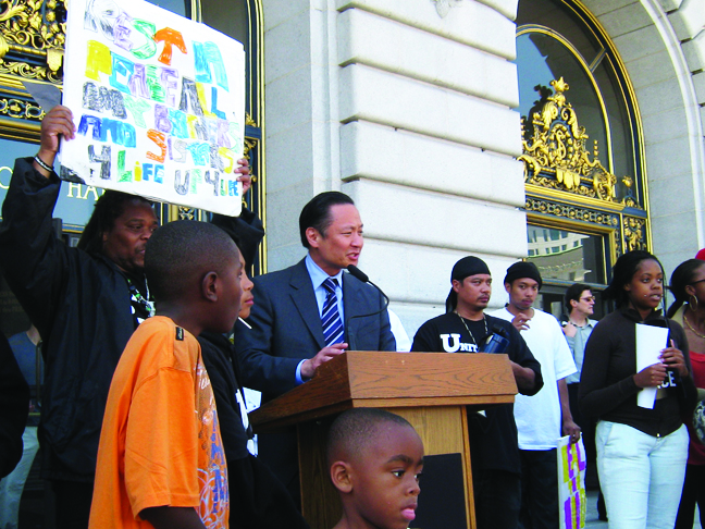 Jeff-Adachi-speaks-at-United-Playaz-Silence-the-Violence-rally-061809-by-Francisco, Clean Slate Program 10th Anniversary Event Thursday, Dec. 3, 5:30-7:30 p.m., Westbay Conference Center, 1290 Fillmore St., San Francisco, Local News & Views