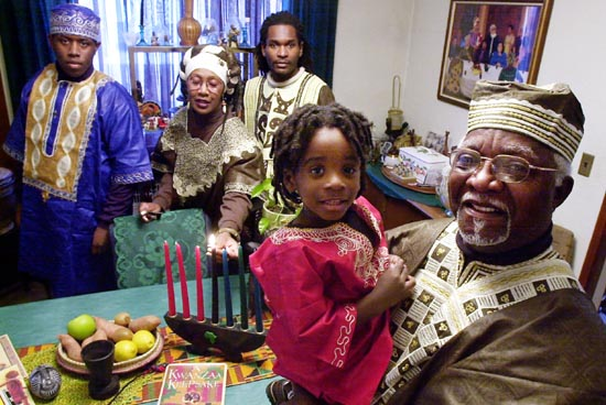 Kwanzaa-family-with-grandfather, Nurturing the 'grand' in grandchildren over the holidays, Culture Currents