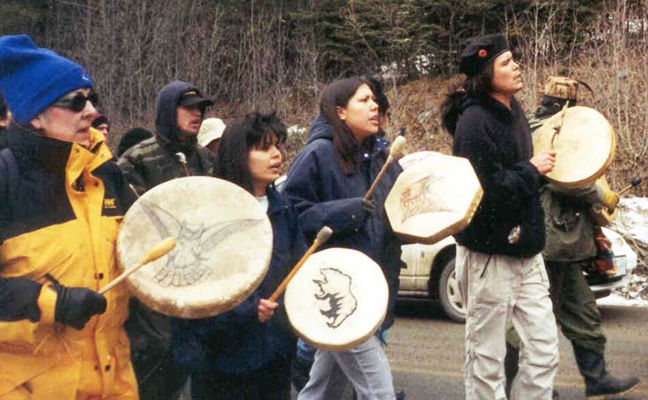 Native-Youth-Movement-protest, Protest 2010 Olympic Torch Relay, National News & Views