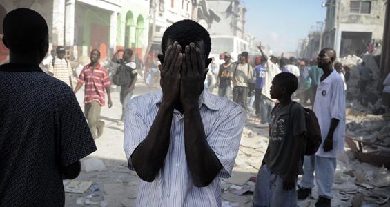 Haiti-earthquake-Haitians-in-shock-011810-by-AFP, From Cynthia McKinney: An unwelcome Katrina redux, World News & Views