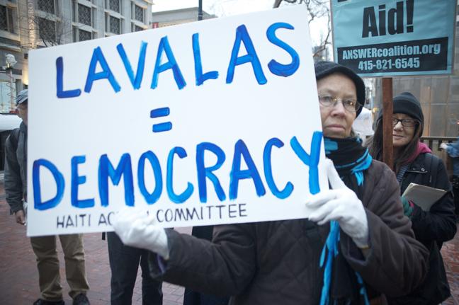 Haiti-earthquake-SF-rally-Lavalas-Democracy-012510-by-Kamau-web, Pierre Labossiere on Haiti: 'This is criminal', World News & Views