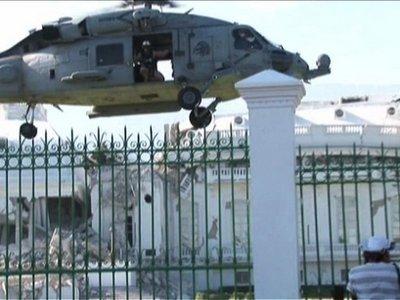 Haiti-earthquake-U.S.-troops-take-control-of-pres.-palace-011910-by-AFP-TV, From Cynthia McKinney: An unwelcome Katrina redux, World News & Views