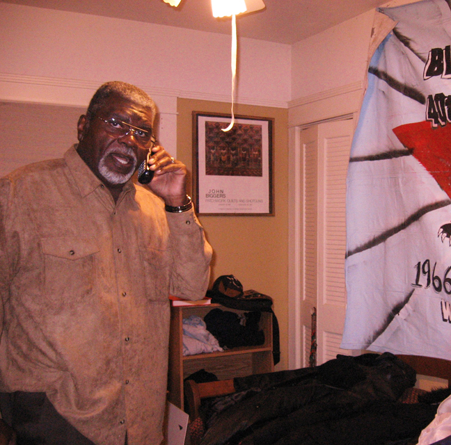Big-Man-on-phone-with-Albert-Woodfox-Angola-3-by-Wanda-web, My thoughts on 'Showdown in Desire: The Black Panthers take a stand in New Orleans', Culture Currents