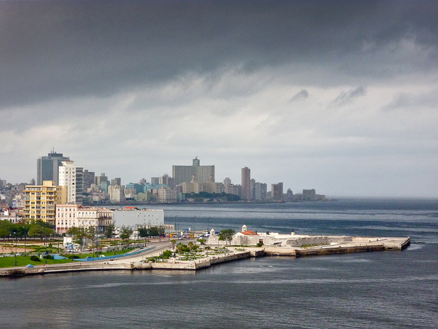 This is downtown Havana from the old Morro Fort. Havana is one of the oldest ...