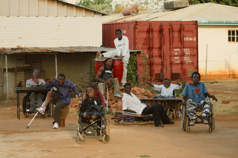 Music-by-Prudence-band-Liyana-in-the-yard-by-Errol-Webber1, Oscar nomination for 'Music by Prudence' about disabled Zimbabwean singer Prudence Mabhena, Culture Currents