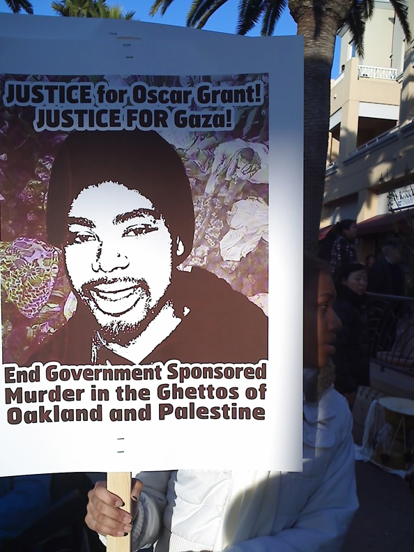 Oscar-Grant-Fruitvale-BART-rally-010709-by-Dave-Id-Indybay, China chides U.S. on rights record, National News & Views