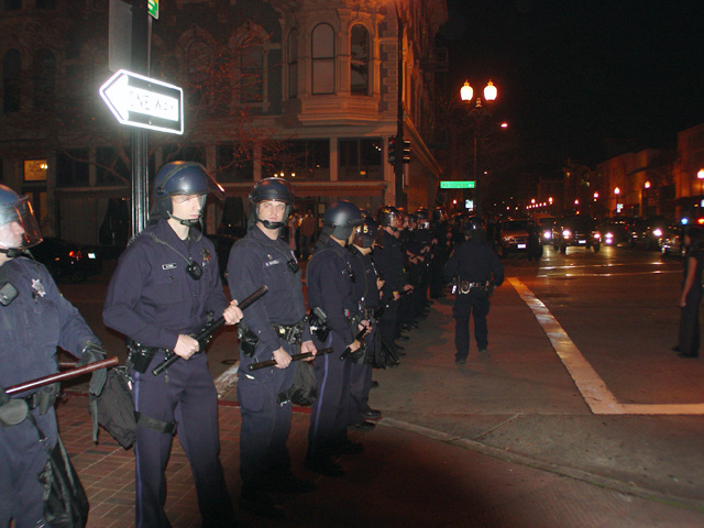 Oscar-Grant-rebellion-police-block-street-at-9th-Washington-Oakland-010709-by-Dave-Id-Indybay, China chides U.S. on rights record, National News & Views