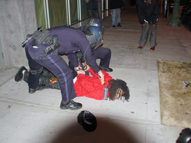Oscar-Grant-rebellion-police-taser-young-Black-man-lying-face-down-010709-by-Dave-Id-Indybay, China chides U.S. on rights record, National News & Views