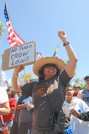 Arizona-Blacks-Latinos-protest-SB-1070-042510-by-Juan-Munoz, Latinos, Blacks join fight for civil rights in Arizona, National News & Views
