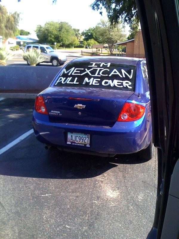 Arizona-Im-Mexican-Pull-Me-Over-0410, Latinos, Blacks join fight for civil rights in Arizona, National News & Views