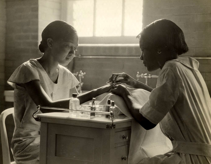 Bordentown-School-learning-cosmetology-by-Lewis-Hine, Wanda's Picks for May, Culture Currents