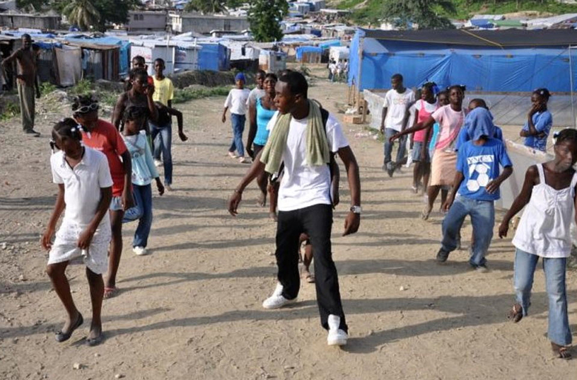 Haiti-earthquake-dance-lesson-in-Terrain-Acra-camp-PAP-0410-by-BBC1, The plantation called Haiti: Feudal pillage masking as humanitarian aid, World News & Views