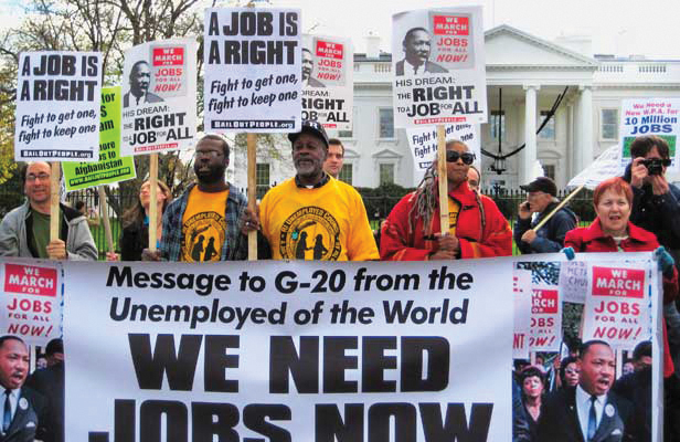 Jobs-rally-White-House-for-WPA-program-120309-by-LeiLani-Dowell, Rally for the right to a job, National News & Views