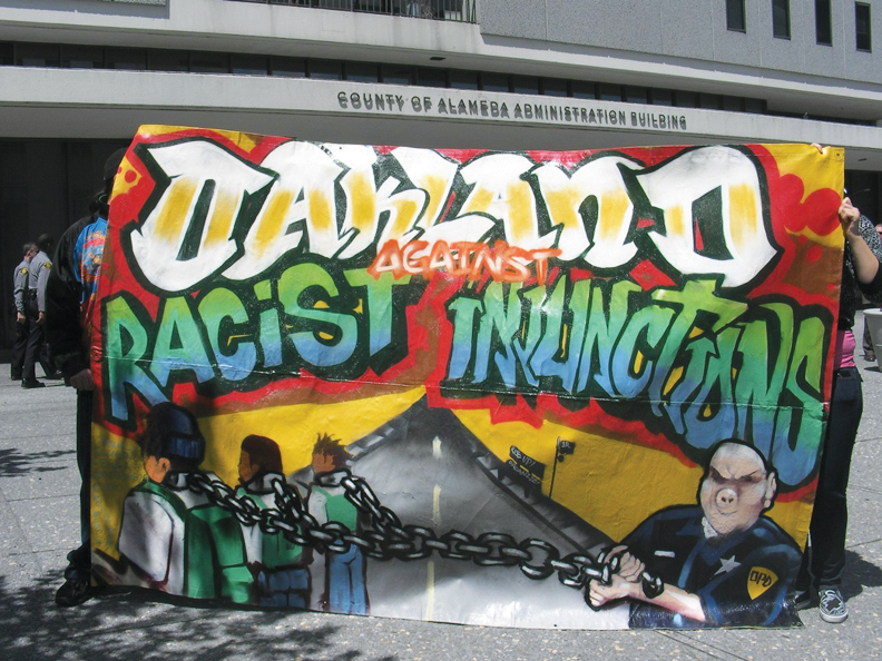 Oakland-protest-Oakland-against-racist-injunction-042210-by-jbp-Indybay, Opposition builds against Oakland gang injunctions, Local News & Views