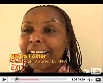 Nadra-Foster-at-courthouse-082508-by-Zeltzer1, KPFA apologizes to Sasha Lilley but not to Nadra Foster, Local News & Views