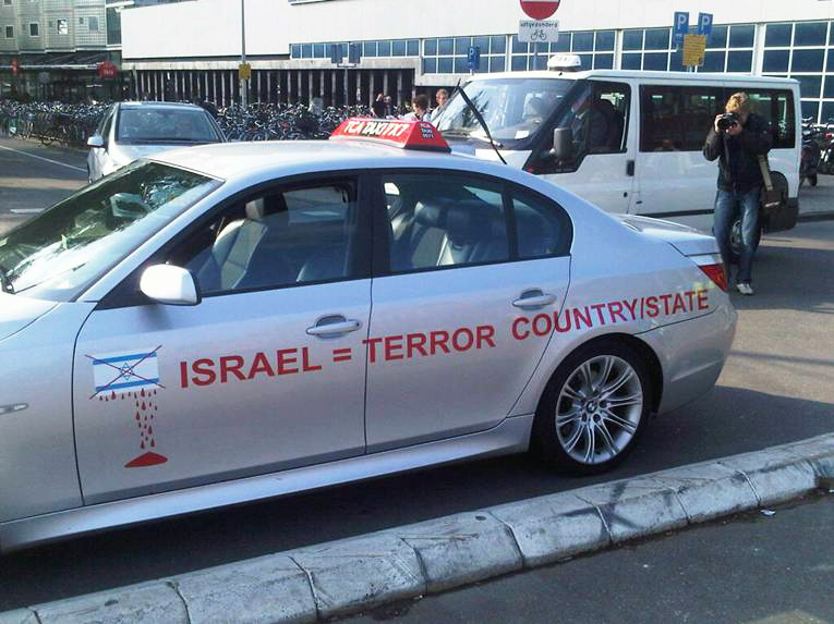 Taxi-in-Amsterdam-IsraelTerror-State-0610, The Zionist attack on the Free Gaza Flotilla, World News & Views